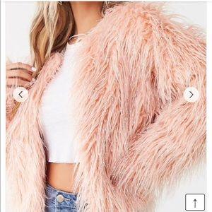Forever21 Mauve Faux Fur Coat